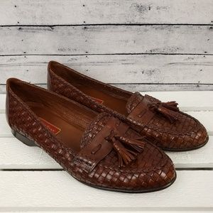 Cole Haan | Vintage Brown Woven Leather Loafer 8 B